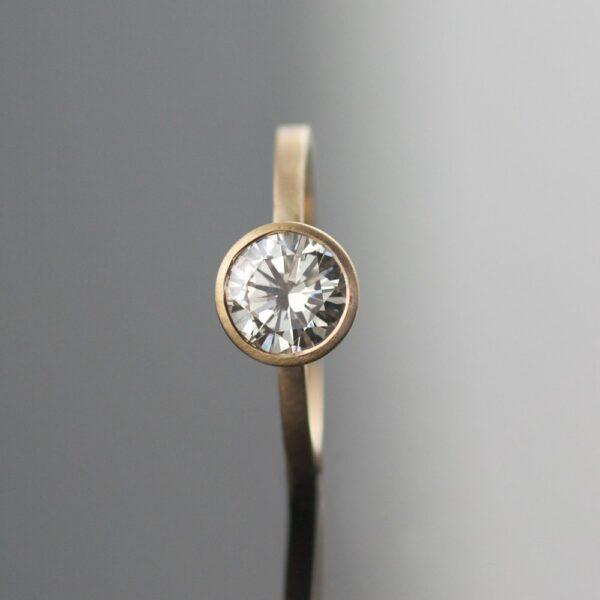 1ct diamond engagement ring simple portland handmade