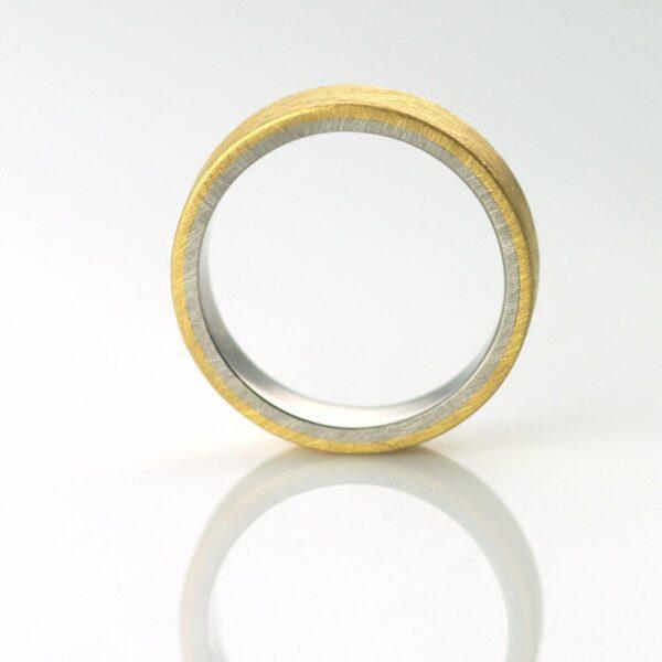 mixed metal wedding ring handmade