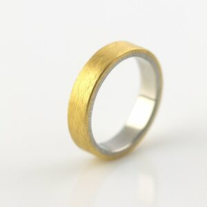 mixed metal wedding ring handmade