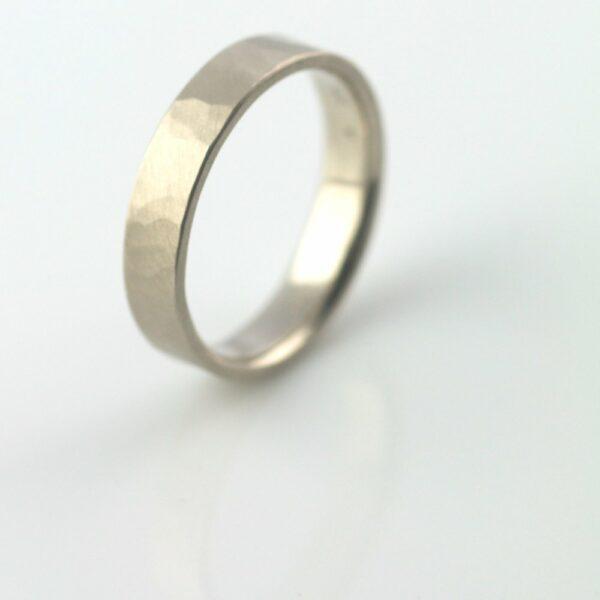 hammered ring 5mm handmade