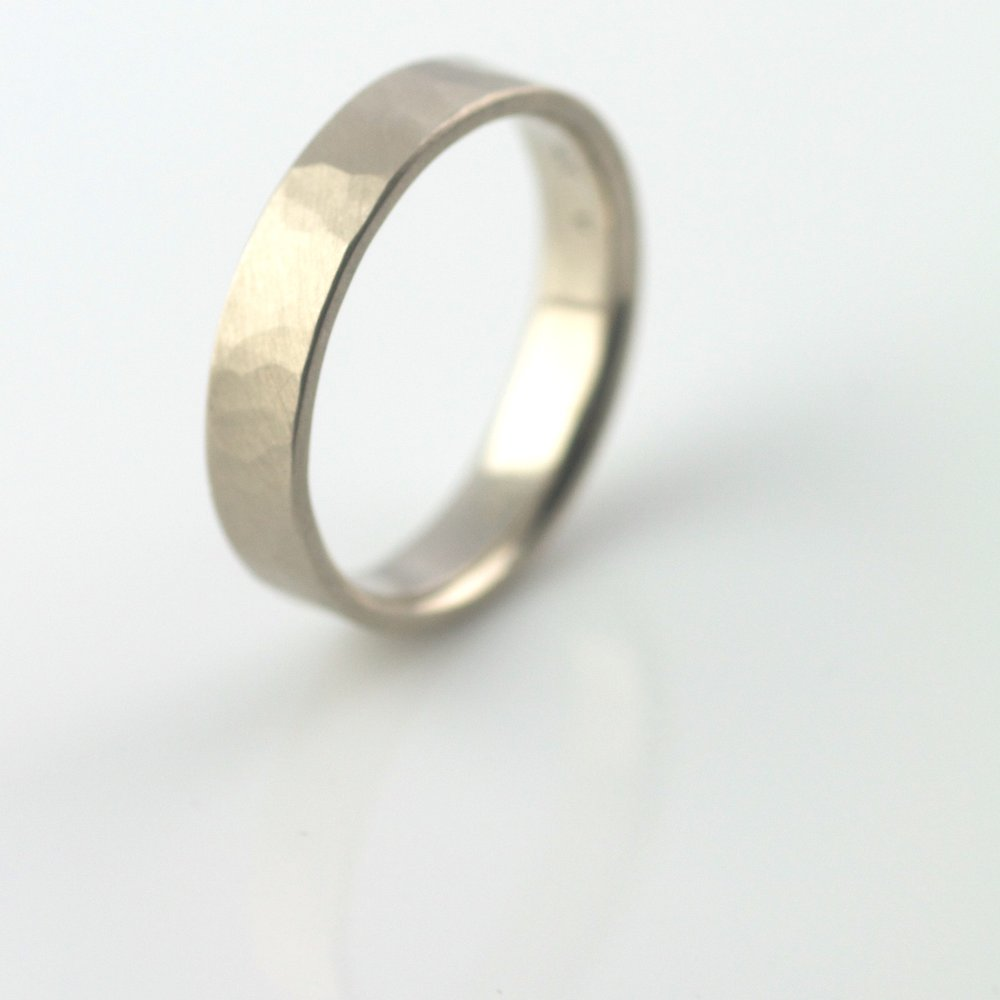 hammered ring 5mm handmade