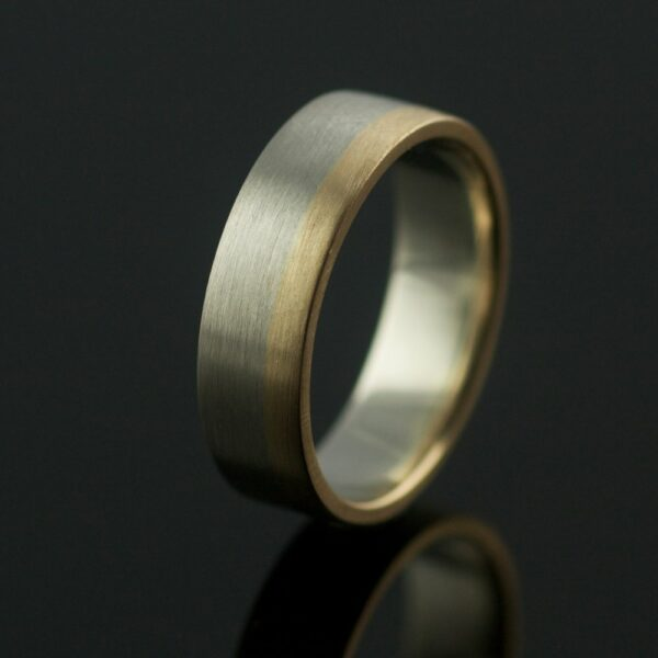 6mm two tone wedding ring made in portland or