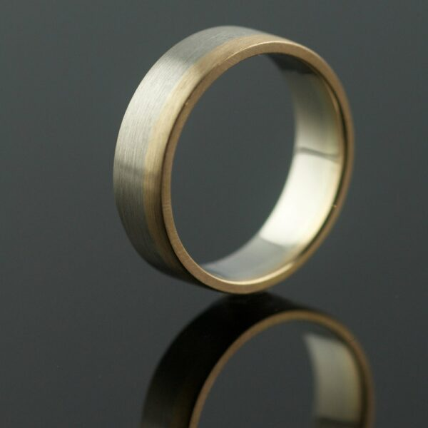 recycled wedding ring in two metals unique