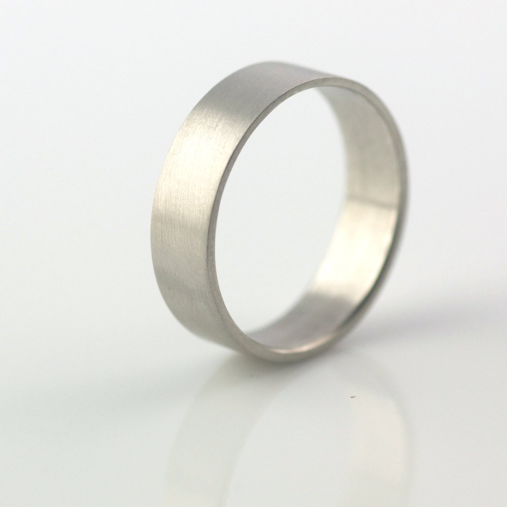 6mm recycled gold ethical metal wedding ring