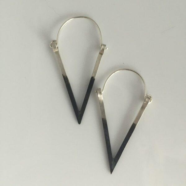 silver earrings V