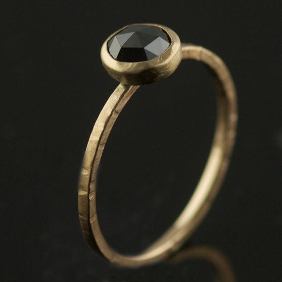 rose cut black diamond ring