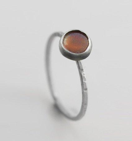 sunstone ring silver