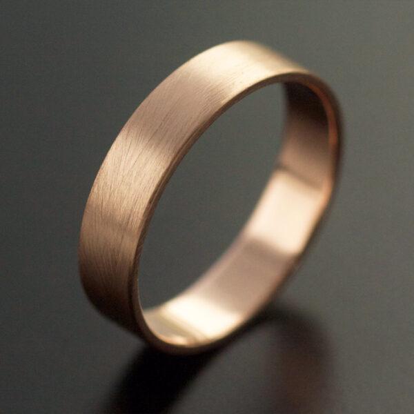 wide rose gold wedding ring handmade
