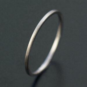 thin white gold ring