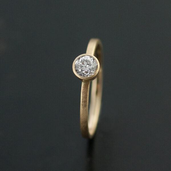 bezel set diamond engagement ring vk designs