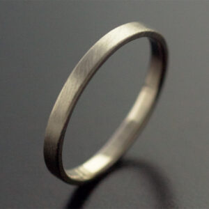 2mm white gold ring wedding satin finish