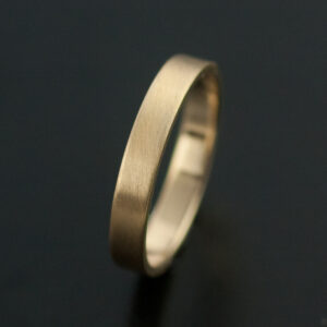 3mm gold wedding band matte