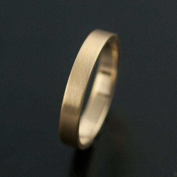 3mm gold wedding band matte