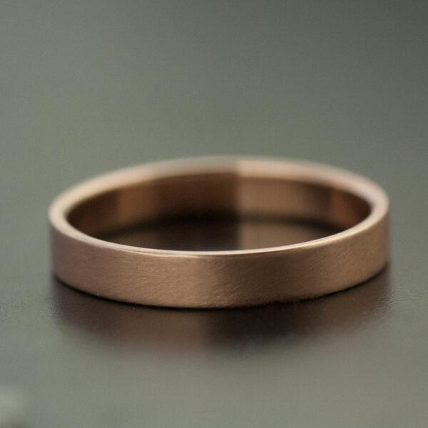 simple rose gold satin ring wedding