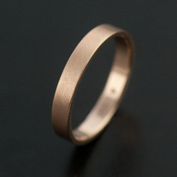 3mm rose gold ring satin finish