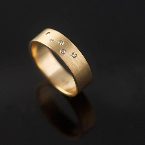 celestial diamond ring in yellow gold