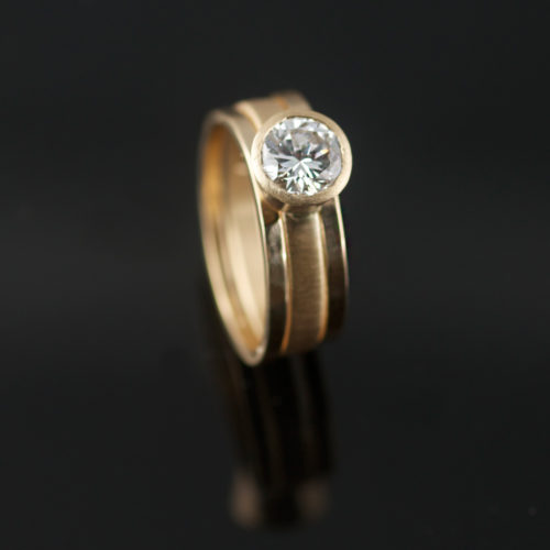recycled diamond in recycled gold