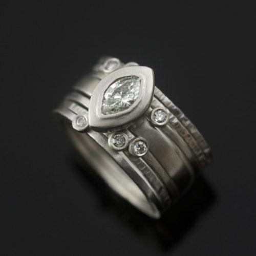 stacking engagement ring heirloom recycled