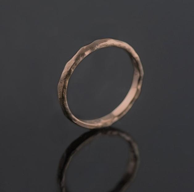 rose gold melted ring