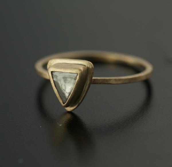 rough diamond ring in gold