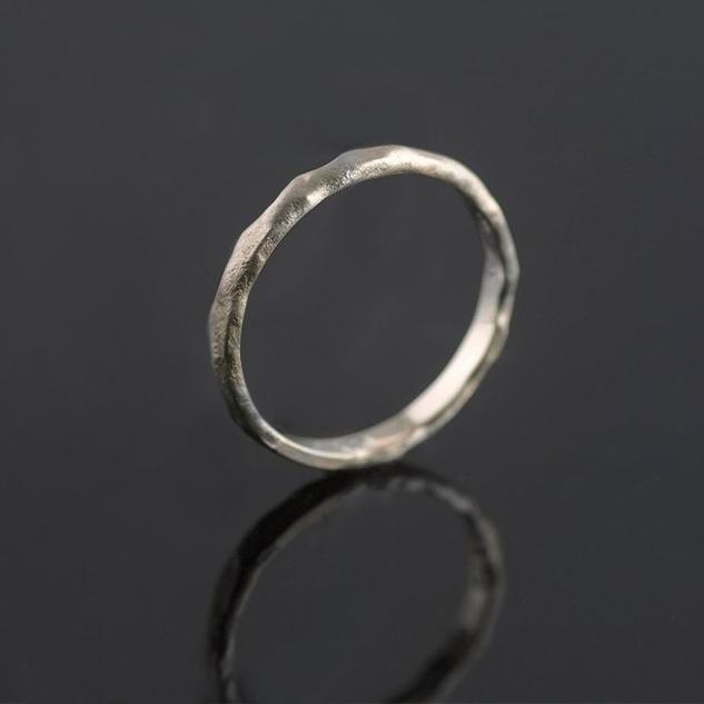 white gold organic ring