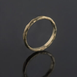 yellow gold melted ring organic