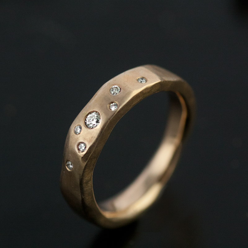 mens dp amazon band wedding com hammered ring silver copper forged chunky rings bold materials