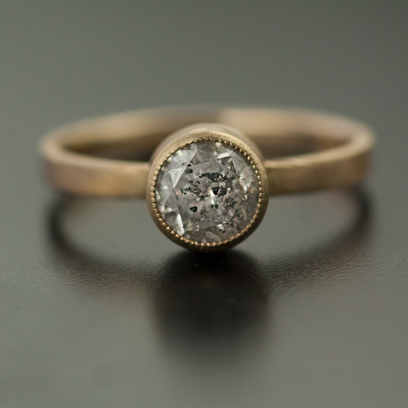 a ring upon set big rose halo accents products once bezel with slice diamond gold