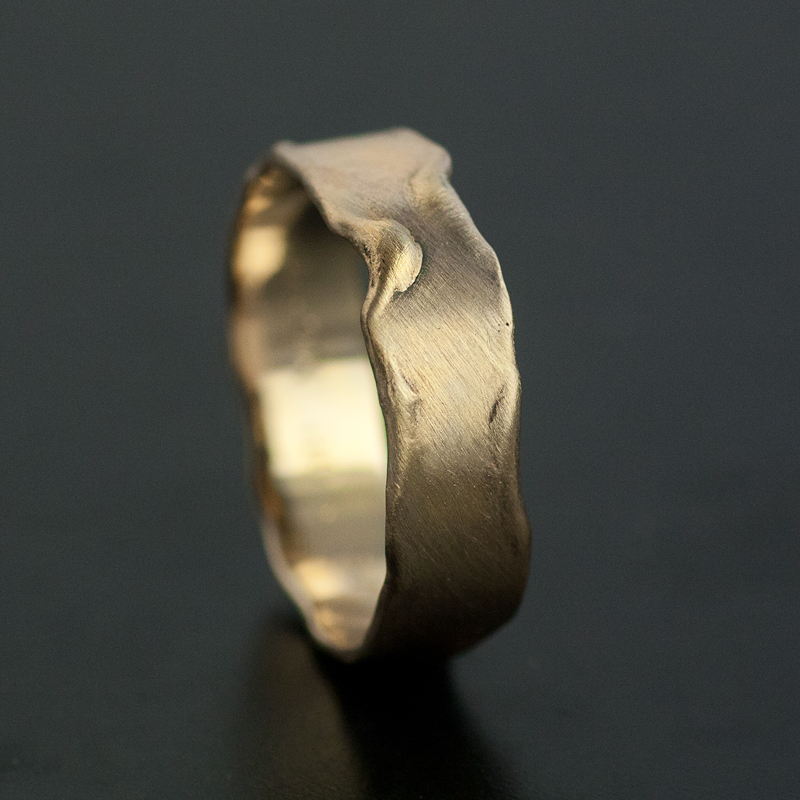 melted gold ring