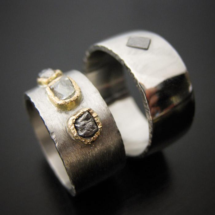 meteorite wedding rings - Meteorite Wedding Rings