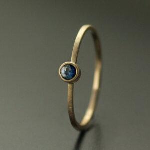 sapphire ring 3mm blue
