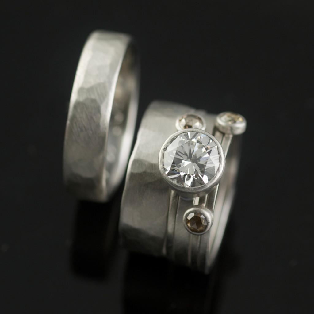ROMANTIC ANNIVERSARY REDESIGN ENGAGEMENT WEDDING BANDS VK Designs