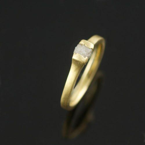 uncut diamond ring unique engagement ring