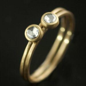 rose cut diamond rings