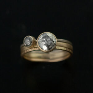 grey diamond ring set