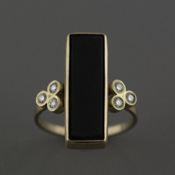 obsidian ring custom cut