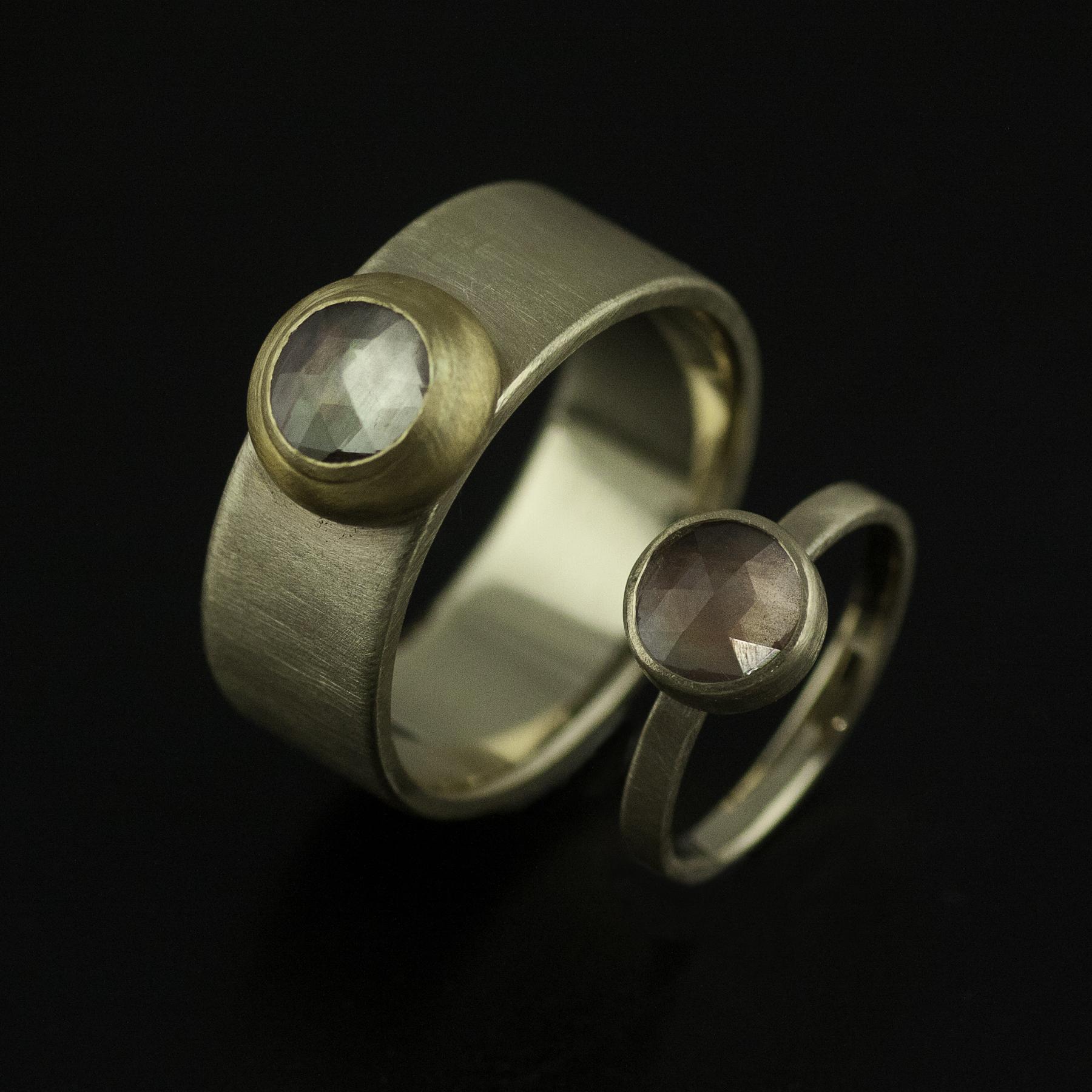 Sunstone wedding ring set vk designs