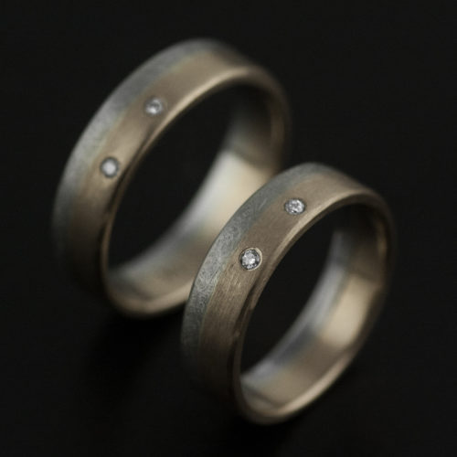 platinum and rose gold wedding ring set custom vk designs jewelry bespoke portland hand made