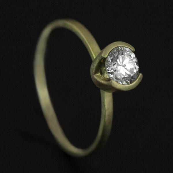 half carat diamond engagement ring old european cut